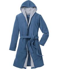 bpc bonprix collection Fleece Bademantel langarm in blau für Damen von bonprix