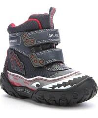 Geox Chlapecké zimní svítící boty - tmavě modré