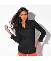 Blancheporte Jednobarevná košile černá