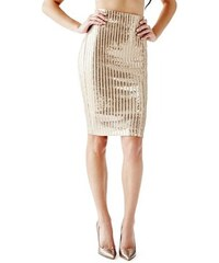 Guess Sukně Sequined Stripe Pencil Skirt