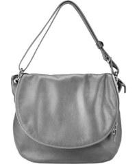 Kožená kabelka Serena 1110 D šedá