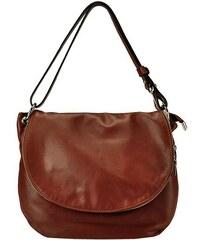 Kožená kabelka Serena 1110 D hnědá