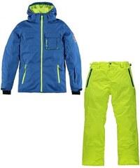 Brunotti Chlapecký lyžařský komplet - bunda Mabertos Blue a kalhoty Domanos Electric