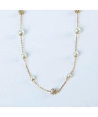 Lesara Halskette mit Perlen- & Kristall-Elementen