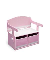 Delta Dětská lavice s úložným prostorem - růžová