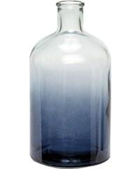 Hübsch Skleněná váza Blue Ombre