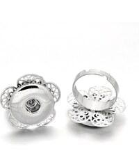 JewelsHall Knoflíkový prsten nastavitelný - kytička - 1,8 cm