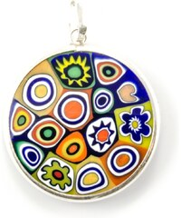 Murano Přívěsek skleněný - stříbro 925 - kombinace barev 2 - Millefiori 26