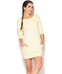 KATRUS Dámské šaty K181 yellow