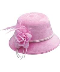 Dámský klobouk s květem růžový