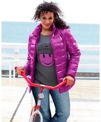 Dámská zimí péřová bunda také pro plnoštíhlé KangaROOS 40/42 pink