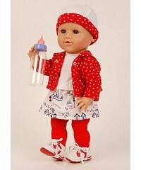 Schildkröt-Puppen Spielpuppe, rot/weiß, »Schwesterchen Trink+Nässbaby«