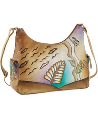 Art & Craft Schultertasche aus handbemaltem Leder