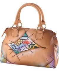 Art & Craft Henkeltasche aus handbemaltem Leder