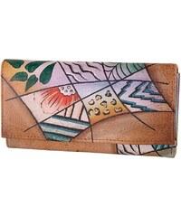 Art & Craft Geldbörse aus handebemaltem Leder