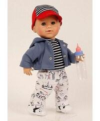 Schildkröt-Puppen Spielpuppe, blau/weiß, »Brüderchen Trink+Nässbaby«
