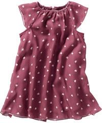 bpc bonprix collection Robe en voile de chiffon, T. 104-158 violet manches courtes enfant - bonprix