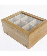 Bambum Bambusová krabička na čaje Misto
