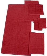 Dyckhoff Handtuch Set Brillant mit Streifenbordüre rot 6tlg.-Set B (siehe Artikeltext)