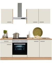 OPTIFIT Küchenzeile mit E-Geräten Odense Breite 210 cm natur