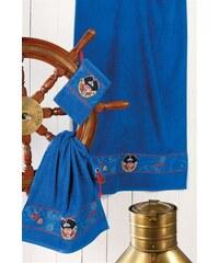 Handtuch Set Capt n Sharky Sharky mit Piraten Bordüre Capt'n Sharky blau 4tlg.-Set (siehe Artikeltext)