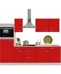 OPTIFIT Küchenzeile mit E-Geräten Faro Breite 270 cm rot