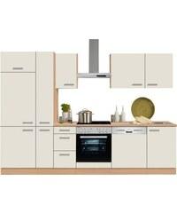 Küchenzeile mit E-Geräten Odense Breite 300 cm OPTIFIT natur