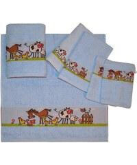Dyckhoff Handtuch Set Pferd mit Bauernhof Tieren blau 6tlg.-Set (siehe Artikeltext)