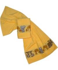 Dyckhoff Handtücher Affe mit Tierbordüre gelb 2xHandtücher 50x100 cm