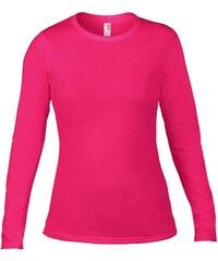 Tričko Fashion s dlouhým rukávem - Sytě růžová S