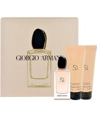 Giorgio Armani Si EDP dárková sada W - Edp 50ml + 75ml tělové mléko + 75ml sprchový gel