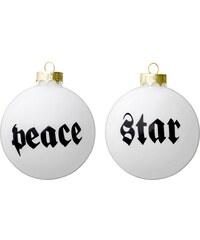 Bloomingville Vánoční baňka Peace/Star Star