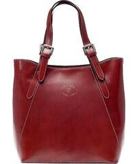 Kožená kabelka Vera Pelle 0145 hnědá