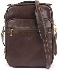 Pánská kožená taška přes rameno Tony Perotti 7058 - tmavě hnědá