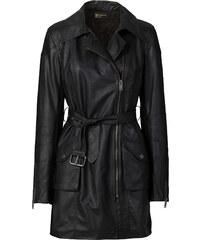 RAINBOW Manteau style motard noir manches longues femme - bonprix