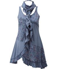 """RAINBOW Top et l""""écharpe bleu sans manches femme - bonprix"""