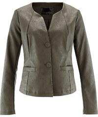 bpc selection Blazer synthétique imitation cuir vert manches longues femme - bonprix
