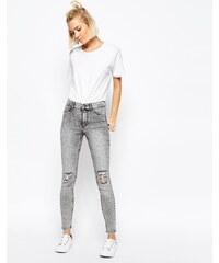 Cheap Monday - High Spray - Hochgeschnittene superenge Destroyed-Jeans - Grau