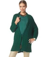 Dlouhý dámský oversized svetr BUFFALO 32/34 smaragdová