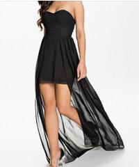 LM moda A Plesové šaty černé s vlečkou OH072 a7849a2e4b