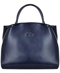Kožená kabelka Paloma 449 tmavě modrá
