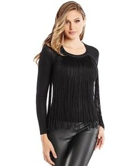Guess by Marciano Svetr Villana Fringe Sweater