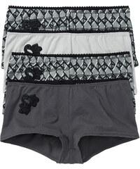 bpc selection Lot de 4 shorties gris lingerie - bonprix
