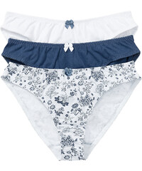 bpc bonprix collection Lot de 3 slips bleu lingerie - bonprix