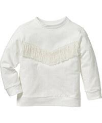 bpc bonprix collection Sweat à franges, T. 80/86-128/134 beige manches longues enfant - bonprix