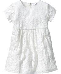 bpc bonprix collection Kleid mit Spitze, Gr. 80-134 kurzer Arm in weiß von bonprix