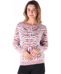 Lesara Pull en chenille avec motif zébré coloré