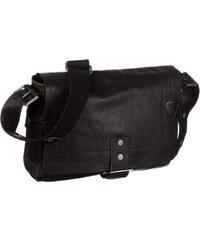 Kožená taška přes rameno s kovovým zámkem Strellson 4010000149 hnědá