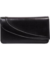 Kožená společenská kabelka-psaníčko- Hajn-1244013-černá