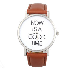 Hodinky Punctuality brown